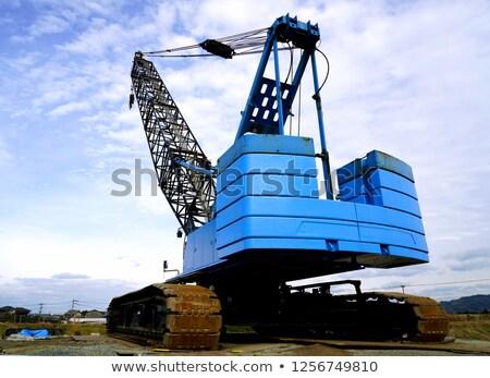 kraan · offshore · boren · staal · witte - stockfoto © pedrosala