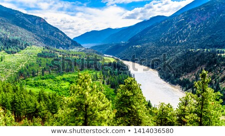 реке · города · каньон · британский · воды · облака - Сток-фото © hpbfotos