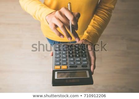 Calculator verkopen kopen knoppen witte papier Stockfoto © fantazista