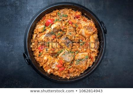 Cod Provencal on Rice Stock photo © MSPhotographic
