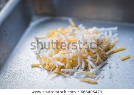 Rogu cheddar ser deska do krojenia Zdjęcia stock © silkenphotography