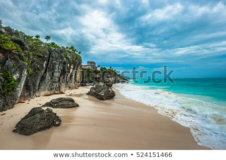 Beach view from Tulum. Stock photo © feedough