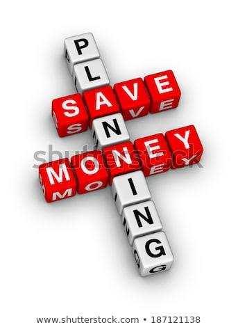 Jelzálog fehér szó piros 3d render pénzügy Stock fotó © tashatuvango