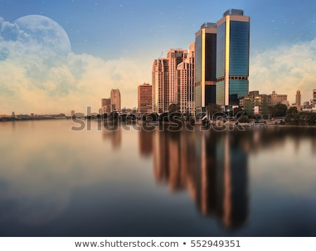 Cairo torre bloques bancos río Foto stock © smartin69