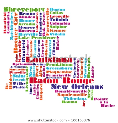 Louisiana word cloud Stock photo © tang90246