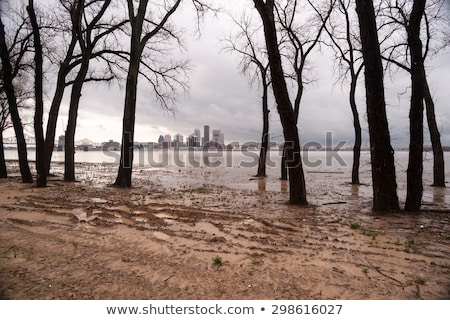 Ohio rivier Kentucky overstroming record regenval Stockfoto © cboswell