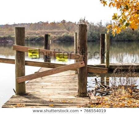Closed Boat Dock Sign Stock photo © njnightsky