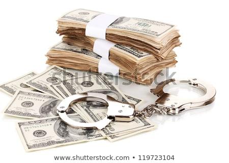 наручники · пару · Идея · арестовать · деньги - Сток-фото © tetkoren