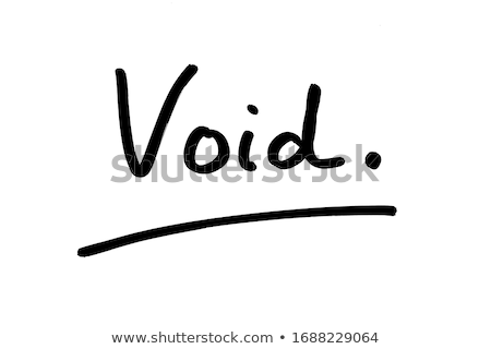 Void message Stock photo © fuzzbones0