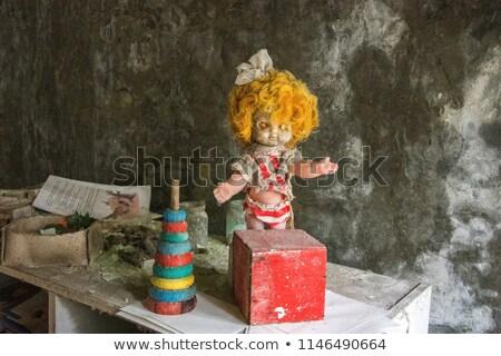 Nukleáris baba elveszett város gyerekek sivatag Stock fotó © bezikus