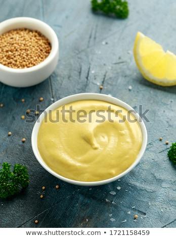 オーガニック 黄色 マスタード クローズアップ テクスチャ ストックフォト © ziprashantzi