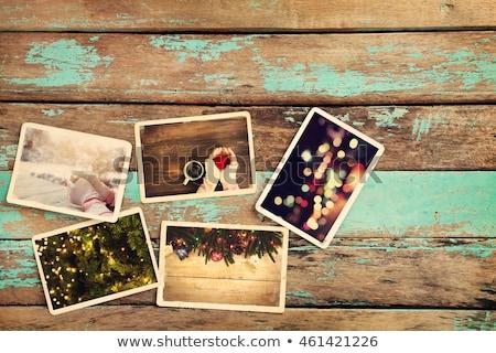 karácsony · keret · manó · szín · illusztráció · fa - stock fotó © marimorena
