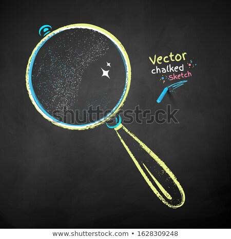Zoom ícone giz lousa Foto stock © RAStudio