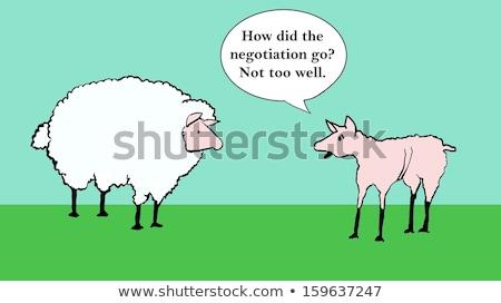 nieuczciwy · konkurencja · działalności · krowy · biznesmen · pokój - zdjęcia stock © lightsource