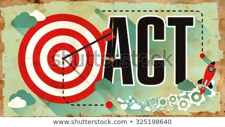 ação · alvo · palavra · urgente · necessidade - foto stock © tashatuvango