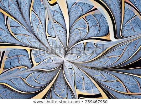 Abstrato artístico dourado floral projeto fundo Foto stock © pathakdesigner