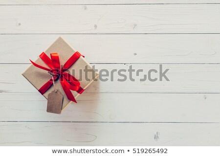 birthday gift on wooden table stock photo © stevanovicigor