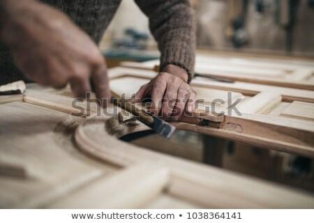 плотник · рук · молота · древесины · ногтя - Сток-фото © geniuskp