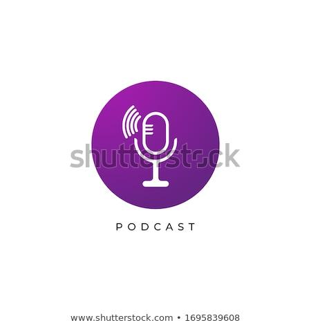 Rádio sinalizar violeta vetor ícone projeto Foto stock © rizwanali3d