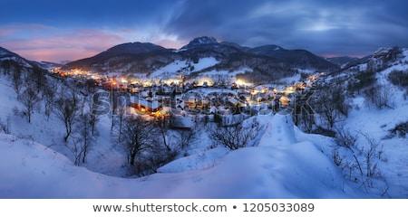 Noel gece Avrupa kasaba parlak Stok fotoğraf © Galyna