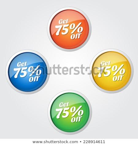 процент желтый вектора икона дизайна цифровой Сток-фото © rizwanali3d