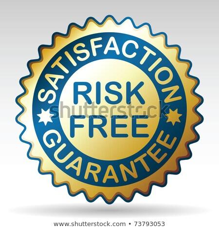 Risk-free guarantee label. EPS 8 Stock photo © beholdereye