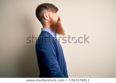 Irlandês homem casual branco isolado pai Foto stock © zdenkam