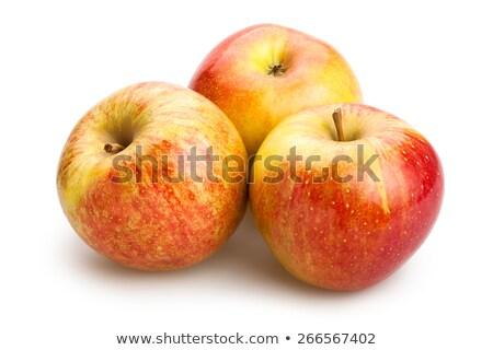 Friss lédús piros citromsárga almák izolált Stock fotó © artush