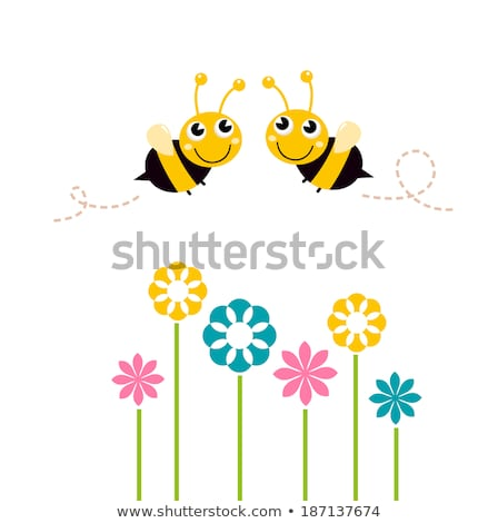 couple of bees on flowers Stock photo © adrenalina