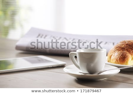 A newspaper on a wooden desk - Food and Drink Stock photo © Zerbor