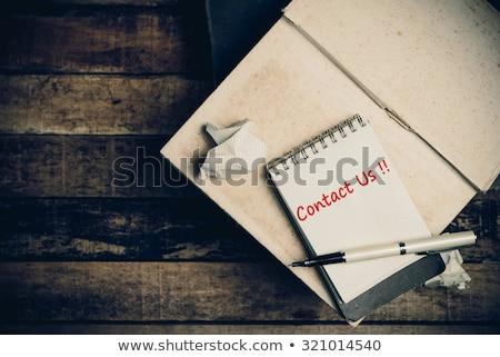 Palavra bloco de notas caneta escritório telefone Foto stock © fuzzbones0