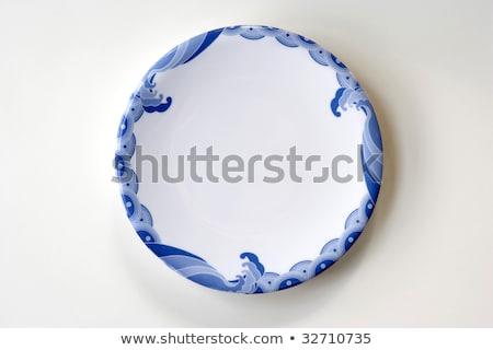 White plates with blue trim Stock photo © bluering