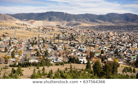 High Angle Overlook Butte Montana Downtown USA United States Stock photo © cboswell