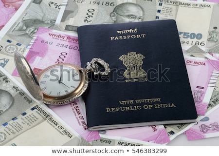 Indian passeport nouvelle monnaie note Photo stock © Akhilesh