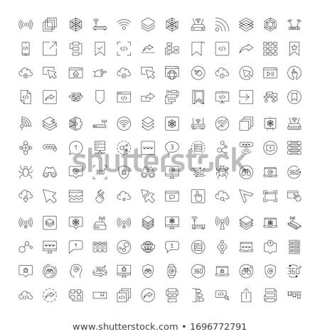 vektor · vonal · ikonok · ikon · izolált · fehér - stock fotó © jeksongraphics