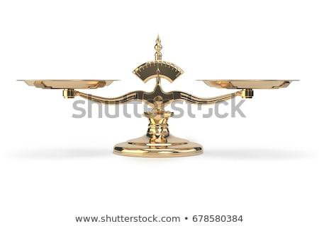 gouden · evenwicht · 3D · dozen · tekst · woord - stockfoto © marinini