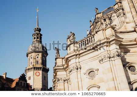 kale · kilise · harabe · Almanya · su · şehir - stok fotoğraf © vladacanon