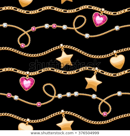 Seamless ruby hearts on black background. Stock photo © Leonardi