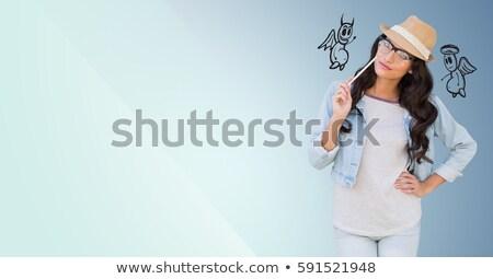 bela · mulher · digital · arte · foto · mulher · menina - foto stock © wavebreak_media