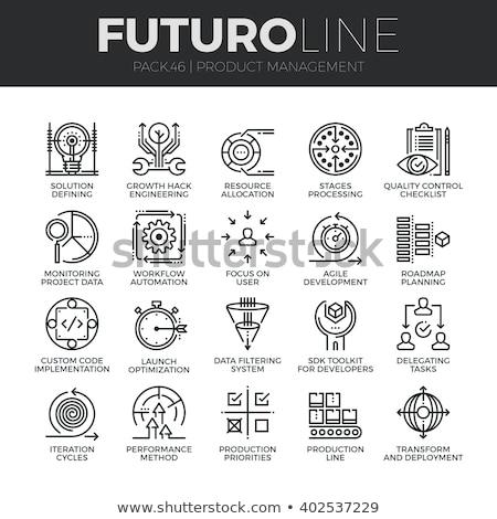 Transform tool line icon. Stock photo © RAStudio
