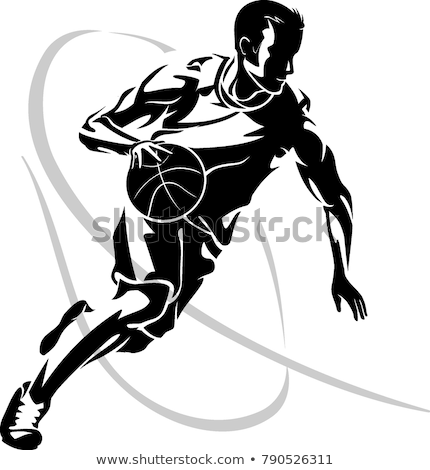 Basketball shadow player dribbling Stock photo © njnightsky