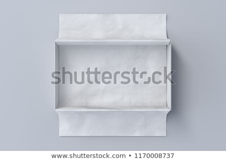 open shoes box with label 3d illustration isolated white stock photo © tussik