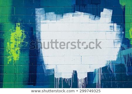 Graffiti fal városi street art terv textúra Stock fotó © softulka