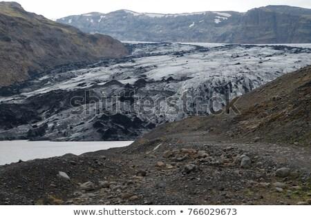 Gletsjer landschap berg ijs rock steen Stockfoto © raywoo
