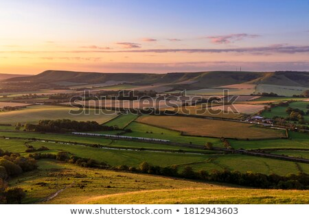 sunrise from bo peep hill stock photo © suerob
