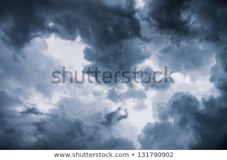 dramatik · fırtınalı · gökyüzü · karanlık · bulutlar · yağmur - stok fotoğraf © dmitriisimakov