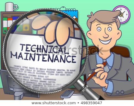 Maintenance Improvement through Magnifying Glass. Doodle Style. Stock photo © tashatuvango