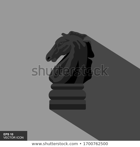 logo game chess in a flat style Stock photo © Olena