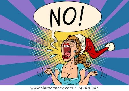 arrabbiato · ragazza · cartoon · pop · art - foto d'archivio © rogistok