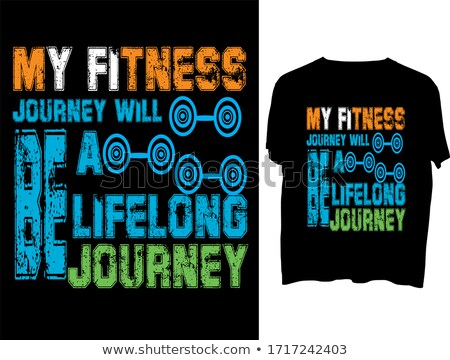 Fitness Typography Stock photo © lenm